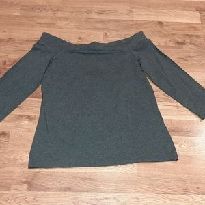 Loft off the shoulder Grey Sweater Size Small